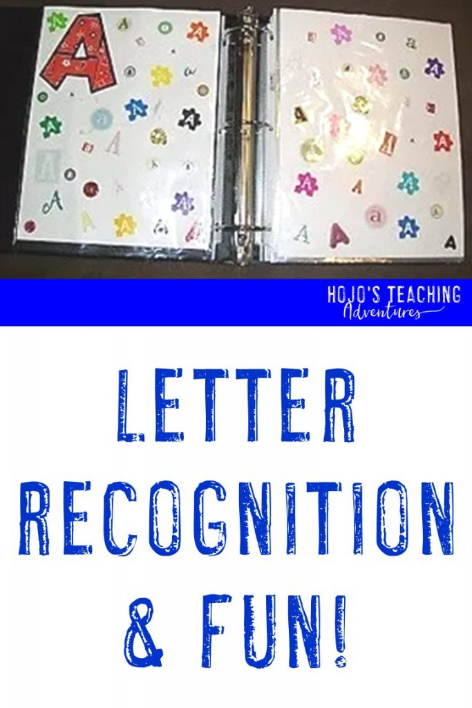 Check out this letter recognition scrapbook! It's a perfect DIY for the classroom or home because children will love looking through it and you'll be able to make it with very little cost by reusing something many scrapbookers always have on hand. Click through to learn more!
