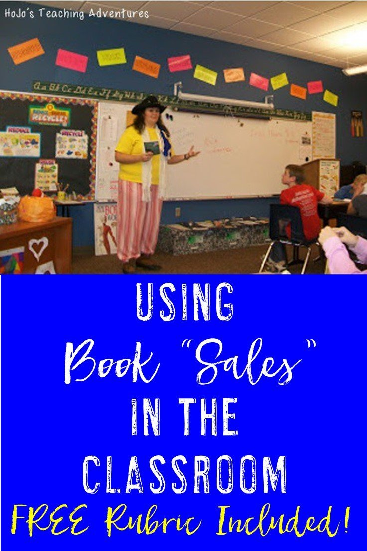 "Are you looking for ways to get students more engaged in what they're reading? Do you want them to also practice their speaking and listening skills? Then book ""sales"" are for you! Click through to see how you could use this idea in your 3rd, 4th, 5th, 6th, 7th, or 8th grade classroom! Plus you get a FREE rubric to grade student work. Get yours now!!"