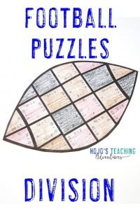 Click to purchase Division Football Puzzles!