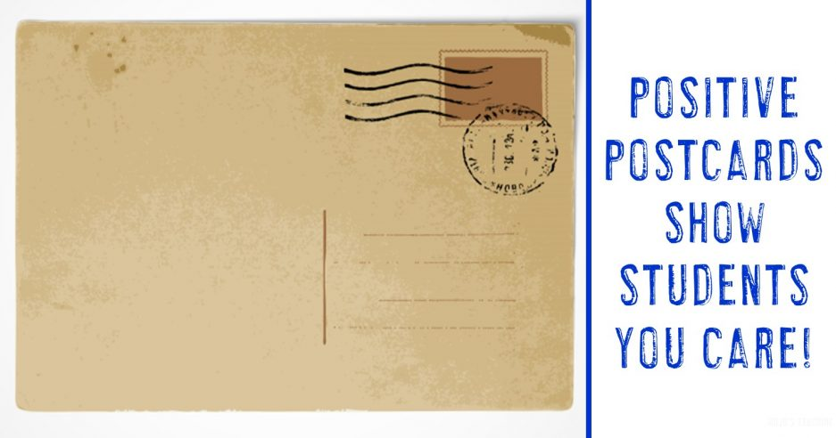 positive postcards show students you care!
