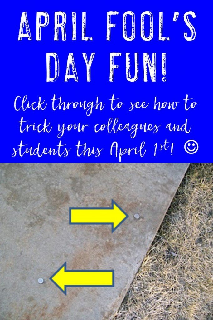 Are you a teacher looking for a completely fun and clean April Fool's day prank for your students or colleagues? Then this is the one for you! Click through to see how I kept people tricked all day long!