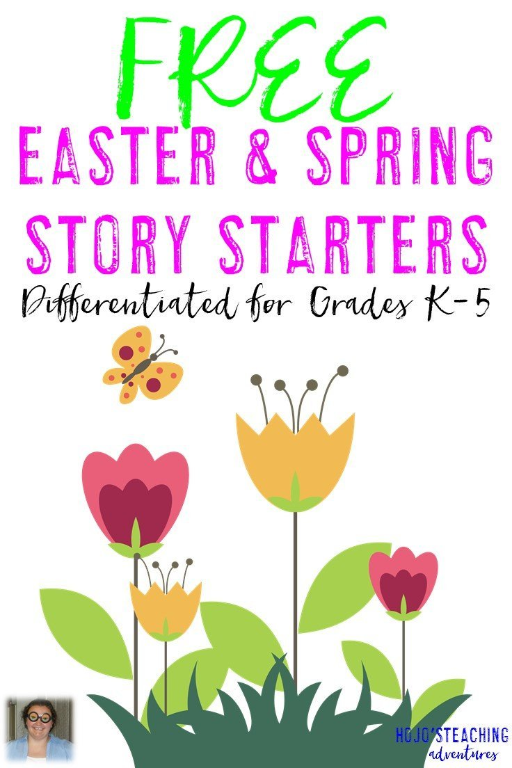 FREE K-5 Differentiated Easter & Spring Story Starters