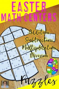 Looking for engaging Easter math centers for your 1st, 2nd, 3rd, 4th, or 5th grade students? These engaging egg puzzles have you covered! You can get addition, subtraction, multiplication, or division. Click through for more details! $