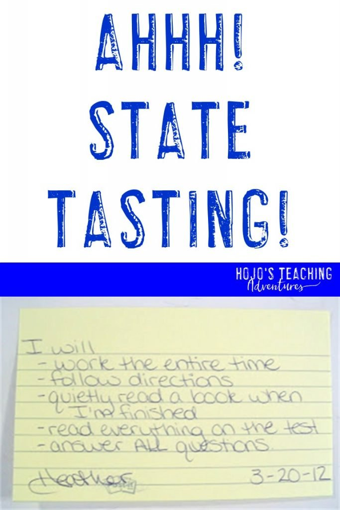 Ahhh! State Testing! with a contract for students to sign