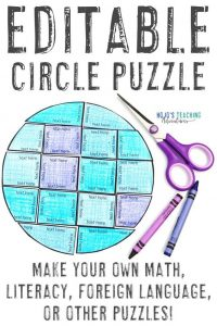 Click to buy this editable circle puzzle in PowerPoint format!