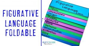 Figurative Language Foldable with all tabs shown