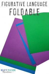 Figurative Language Foldable image with six pieces of paper