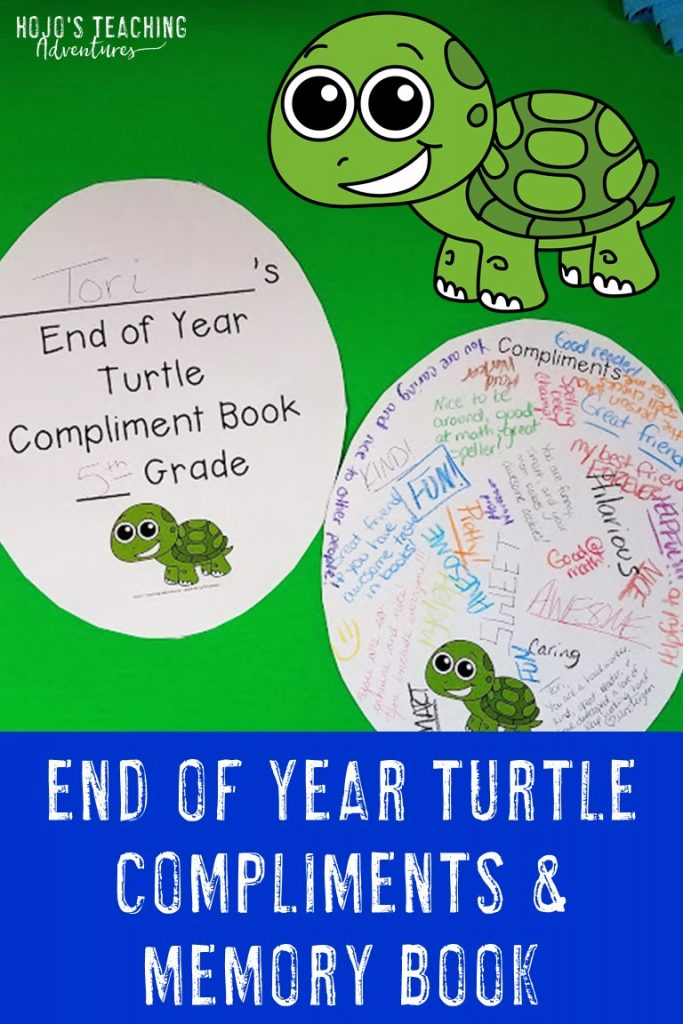 Help your 2nd, 3rd, 4th, 5th, or 6th graders end the year with positive memories of their classmates AND get a little peace and quiet to boot! This turtle compliment activity is a great way for students to share positive character traits about one another - while also leaving the year with a fun memory book. Choose from a low cost option you can grab on your own, OR grab a no prep printable you can quickly print and hand to your students. Great for the last day of school! {Grade 2, 3, 4, 5, 6}
