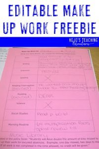 make up work freebie