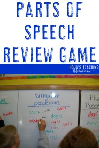 parts of speech review game