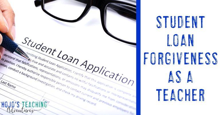 student loan forgiveness as a teacher