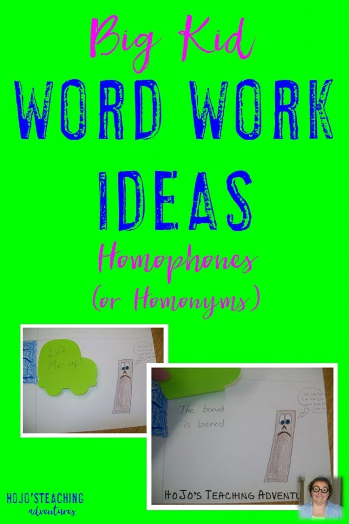 Are you looking for word work ideas for your upper elementary students? This idea can be used in the 3rd, 4th, 5th, or 6th grade classroom. It's great to help solidify the concept of homophones or homonyms for your students!