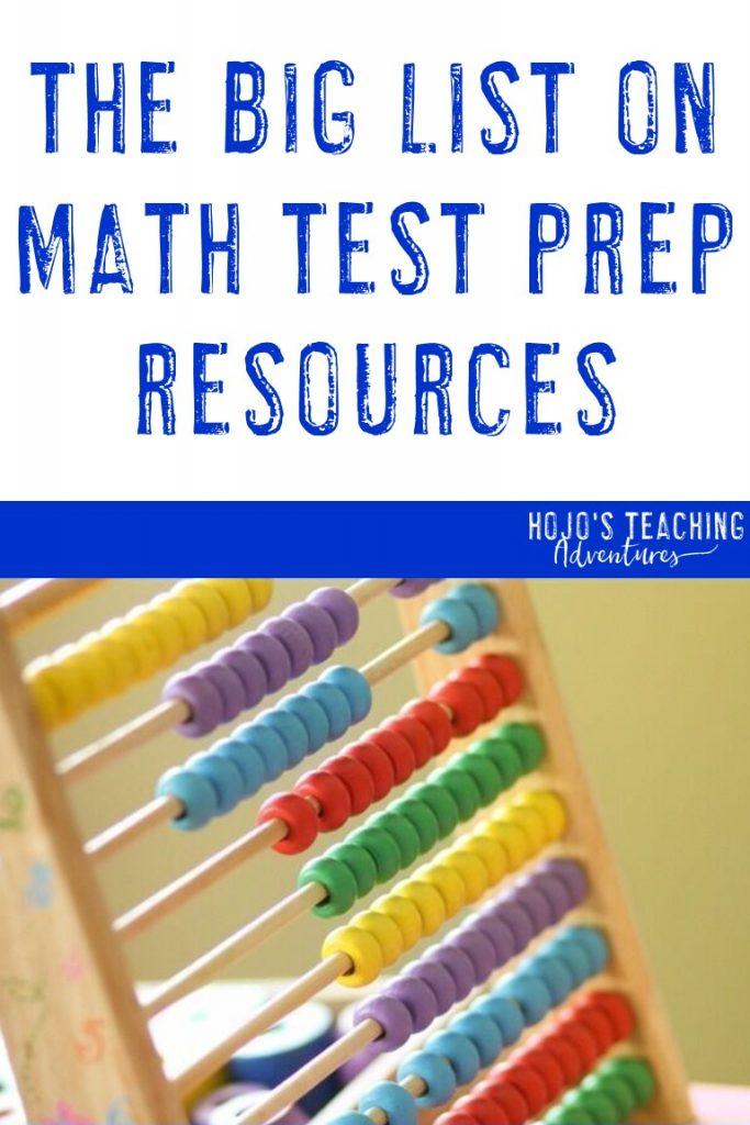 the big list on math test prep resources