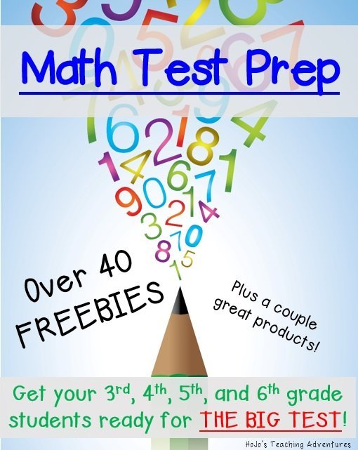 Math Test Prep Ideas for the 3rd, 4th, 5th, and 6th grade classroom. Over 40 freebies included!