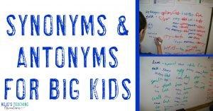 synonyms & antonyms for big kids