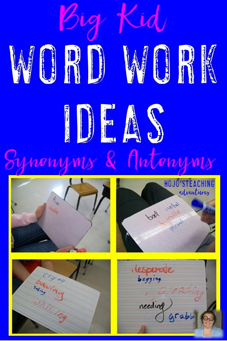 More Word Work for Older Students