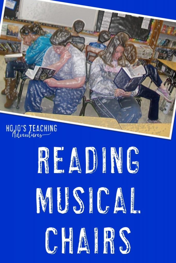 "Want your students to try out a variety of genres? Then try out ""Reading Musical Chairs""! This is a great activity to do in your 2nd, 3rd, 4th, 5th, or 6th grade classroom. It's perfect for those ""off"" days where students aren't really ready to pay full attention due to testing, holidays, an assembly, or something else putting the schedule ""off"". Click through to see how awesome it is! It's also great for a fun literacy center. #HoJoTeaches #Reading #ReadingFUN #ReadingComprehension #Genres"
