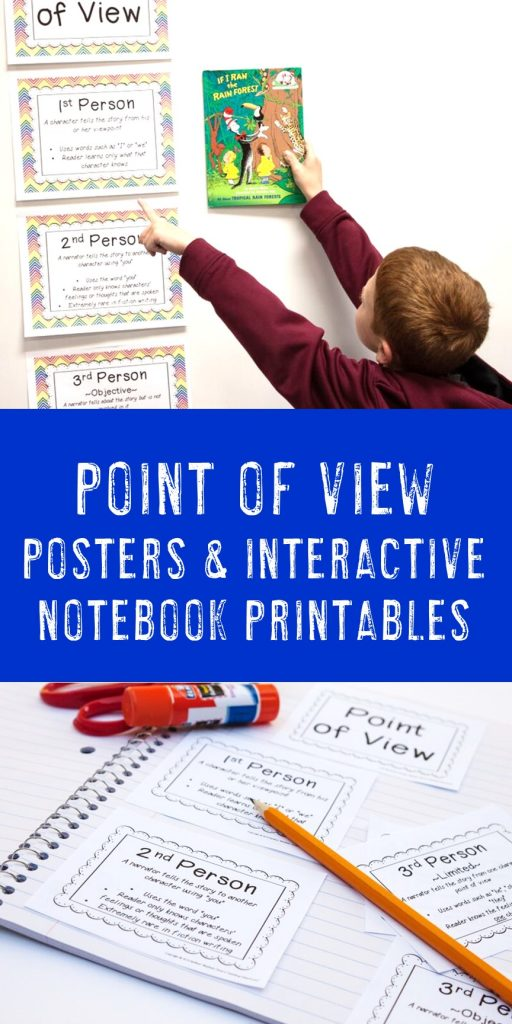 points of view posters and interactive notebook printables in action