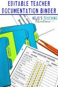 EDITABLE Teacher Documentation Ideas