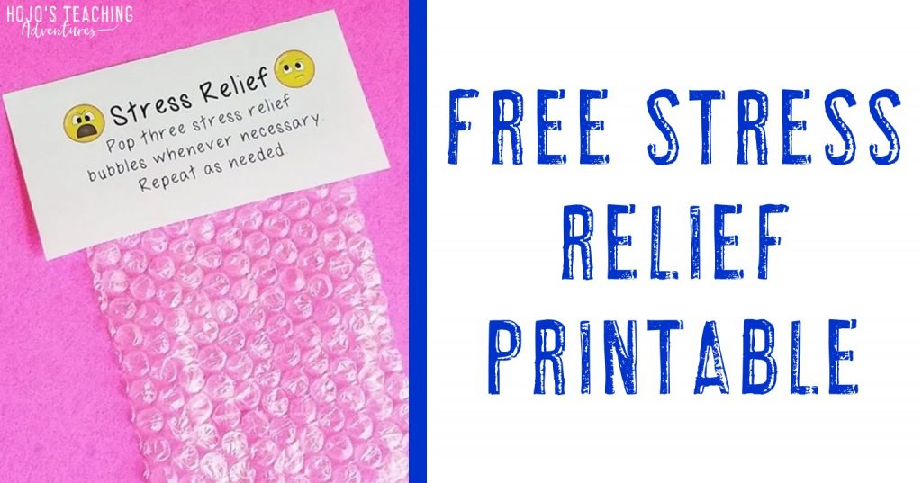 free stress relief printable