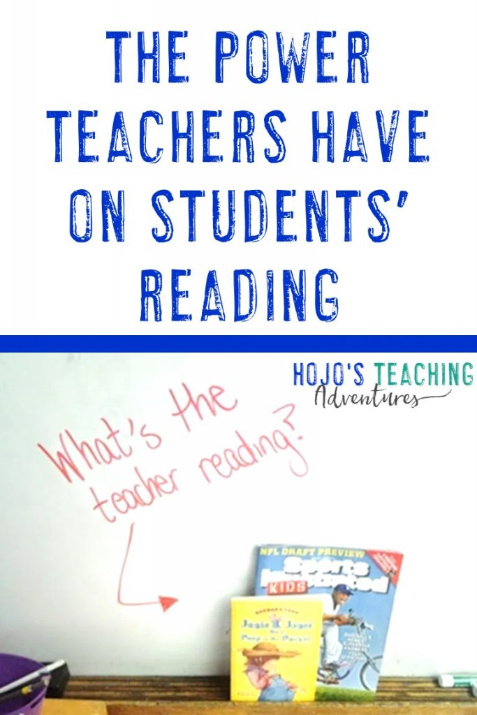 the power teachers have on students' reading