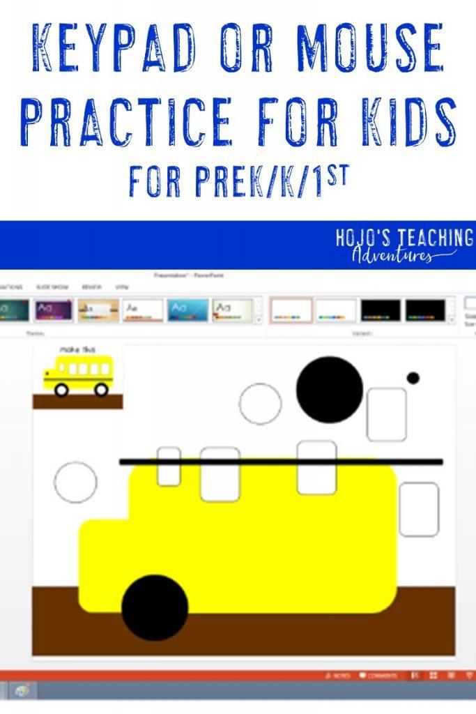 keypad or mouse practice-for prek-k-1st
