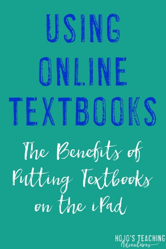 Is your school considering going 1:1 with iPads and putting textbooks on the iPad? If so, check out this post! Here a middle school and high school social studies teacher shares his experience with textbooks on the iPads. You'll see how to motivate students, how online textbooks decrease school costs, and the other benefits of using online textbooks. The ideas presented here would work with your upper elementary, junior high, or high school students. Check it out now!