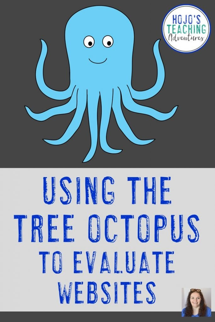 When it's time to write a research paper and start finding information online, make sure your students know how to evaluate websites. Doing a quick mini lesson on the tree octopus will help your 2nd, 3rd, 4th, 5th, or 6th grade classroom or home school students better understand to use caution with what they find, read, and learn online. Click through for an immediate lesson you can use right away.