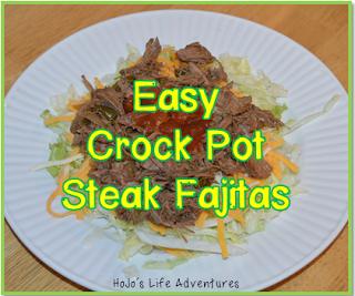 Easy Meals for Teachers - Crock Pot Fajitas with beef, pork, or chicken!