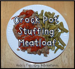 Easy Meals for Teachers - Crock Pot Stuffing Meatloaf