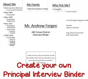 If you're looking for an administrator position, then you're going to love the principal interview binder and other tips provided here. Click through to see what it's all about!