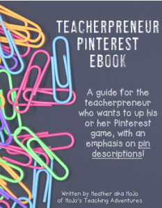 Are you a teacherpreneur who needs to up your Pinterest game? Then check out this awesome ebook! With 20 pages of info, you're going to love how much you learn at one great, low price!!