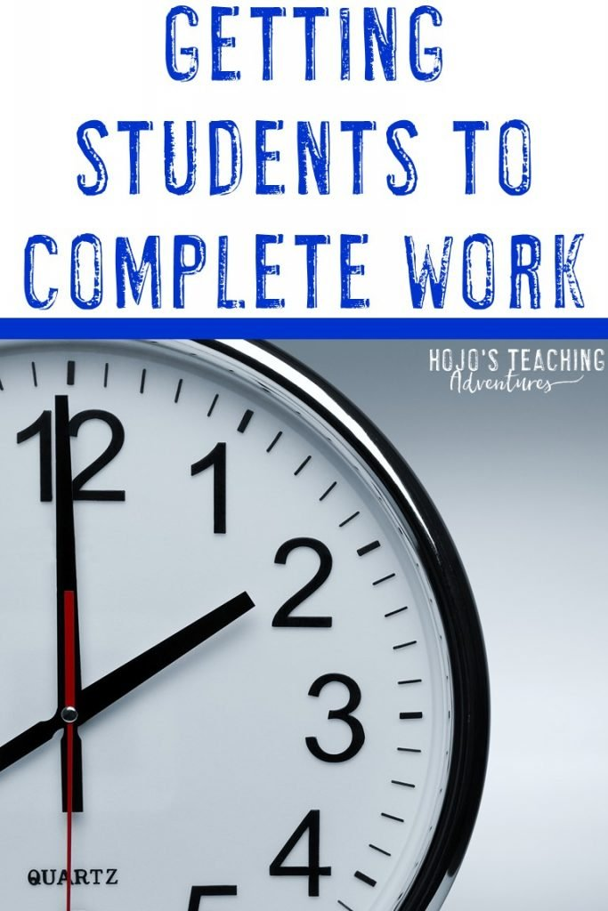 getting students to complete work