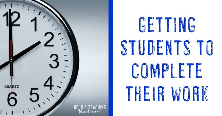 getting students to complete their work