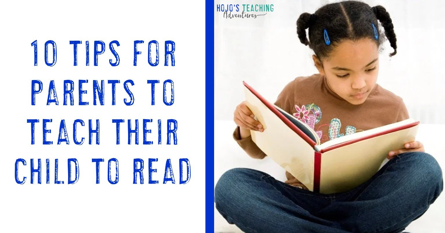 10 tips for parents to teach their child to read