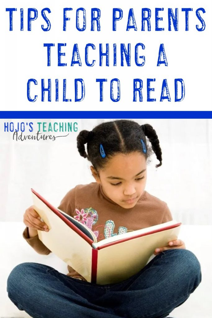 tips for parents teaching a child to read