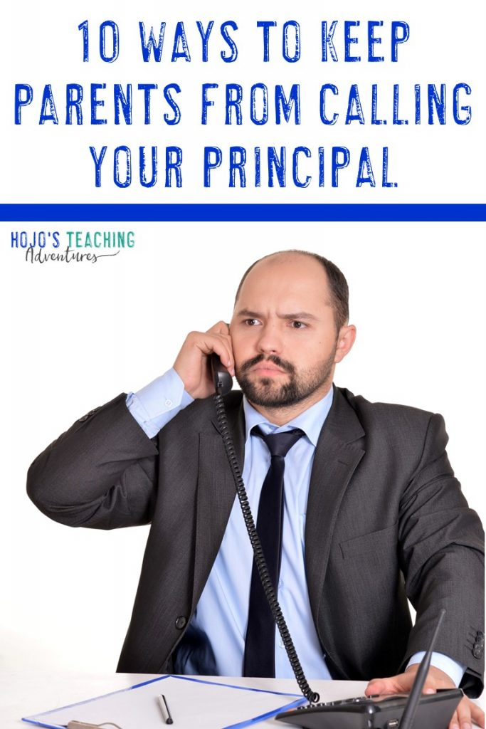 10 ways to keep parents from calling your principal