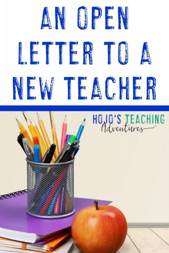 an open letter to a new teacher