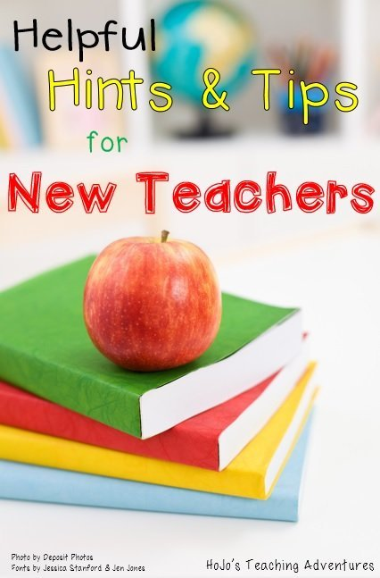 Are you a new teacher? Looking for tips and ideas to help you get the year off to a great start? Then you're going to love this post with helpful hints and ideas for new teachers!