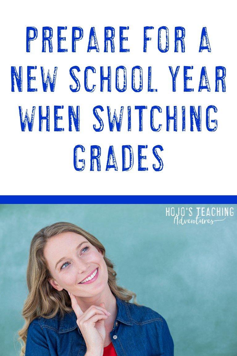 new school year when switching grades