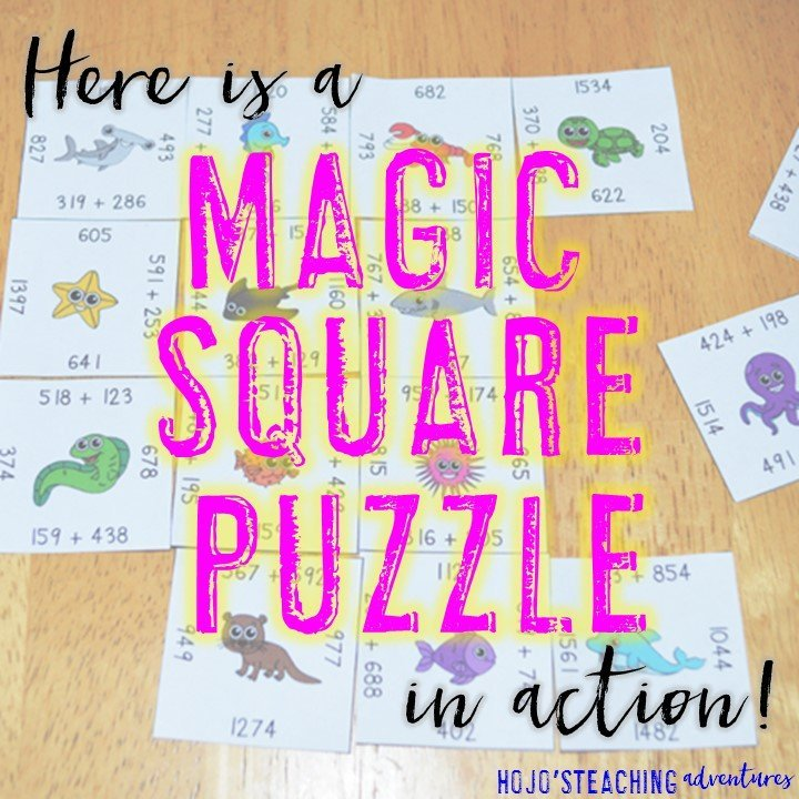 Are you looking for engaging, hands-on puzzles that will double as learning tools in your homeschool or classroom? Then check out these Magic Square Puzzles! They're available in literacy, math, and more. Plus you'll get a FREE download when you sign up for HoJo's Teaching Adventures newsletter. Click through and get started today!