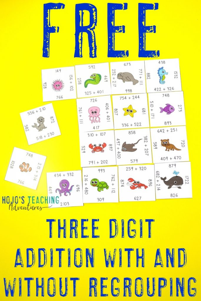 Click here to get your FREE Magic Square Puzzles with three digit addition with and without regrouping!