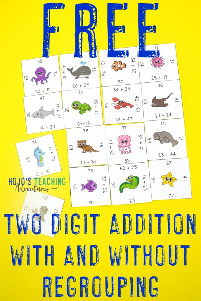 Click here to get your FREE Magic Square Puzzles with two digit addition with and without regrouping!