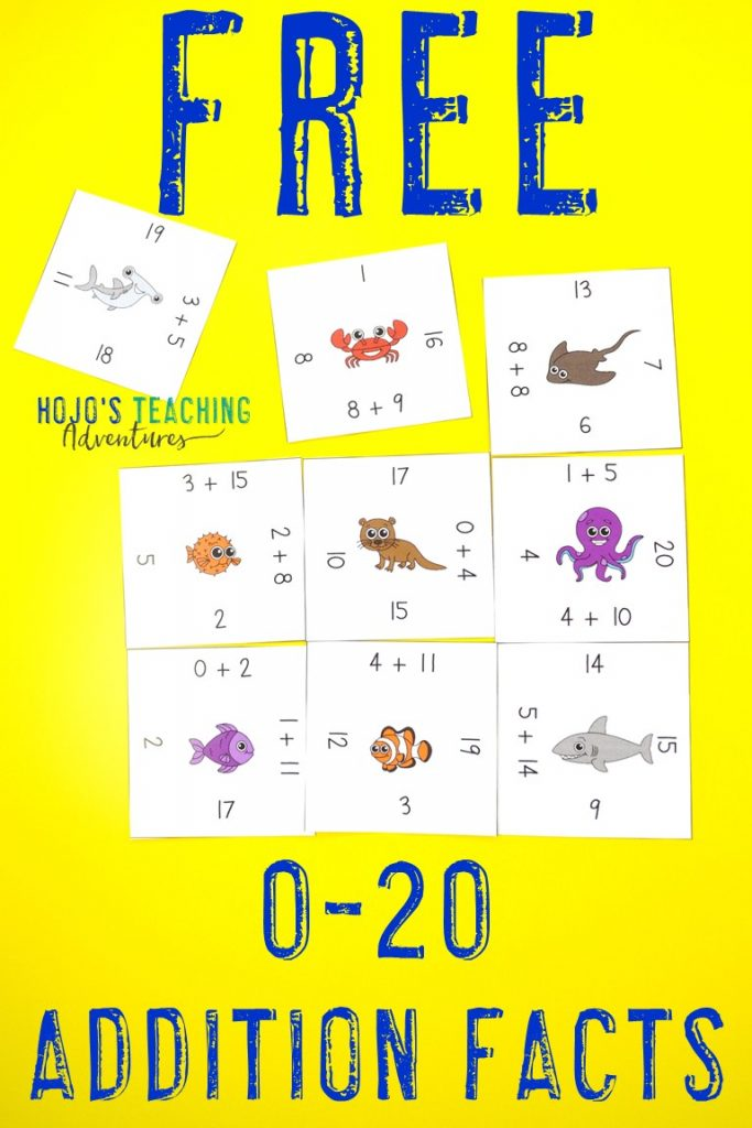 Click here to get your FREE Magic Square Puzzles for Adding 0-20!