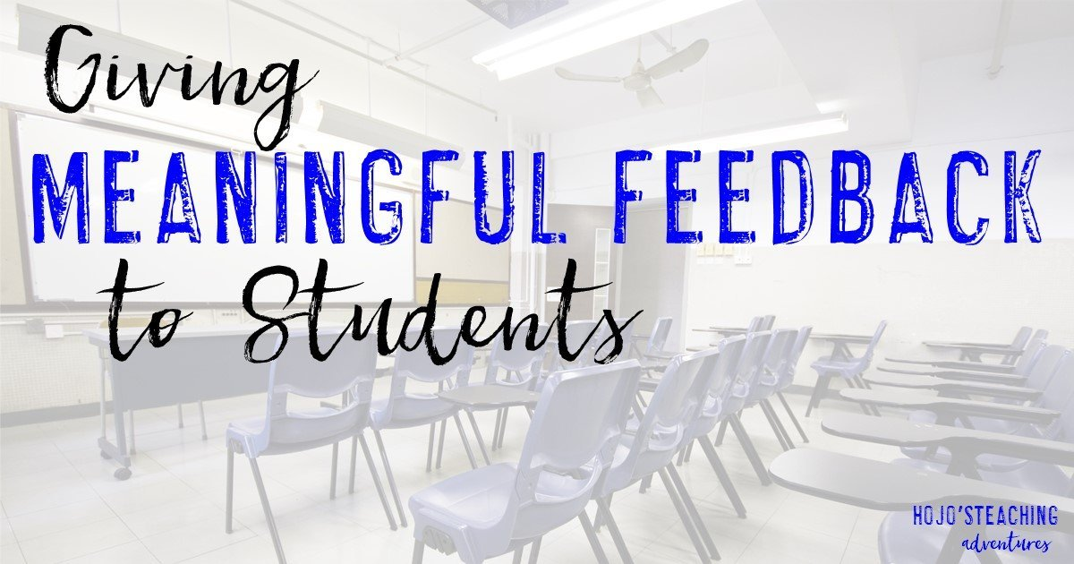 Giving Meaningful Feedback to Students