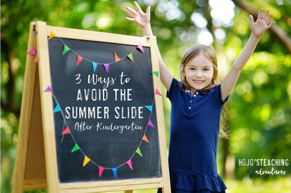 Are you looking for ways to ensure your Kindergarten students are ready for first grade? Make sure they avoid the summer slide with the three ideas at this blog post! It'll help your Kindergarteners be ready for 1st grade, and you'll have the peace of mind that parents and families know how to best help their precious child retain everything you've taught them during the last school year!