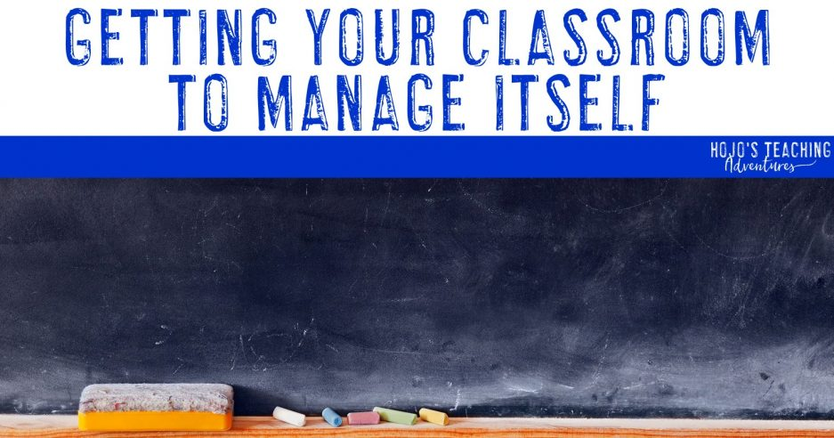 getting your classroom to manage itself