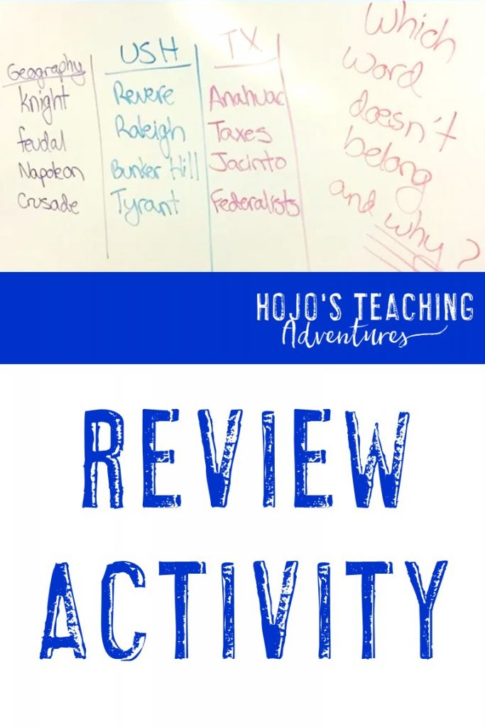 Social Studies Review - Review Activity