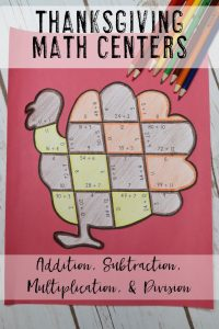 Your 1st, 2nd, 3rd, 4th, and 5th grade classroom or home school students will love being able to do math puzzles during the school year. Check out this turkey puzzle for Thanksgiving or November math stations. Your students can practice addition, subtraction, multiplication, and division math skills. Plus get a FREE download at the blog post to test out the puzzle game format. Great for math centers! {first, second, third, fourth, fifth graders, freebie, homeschool}