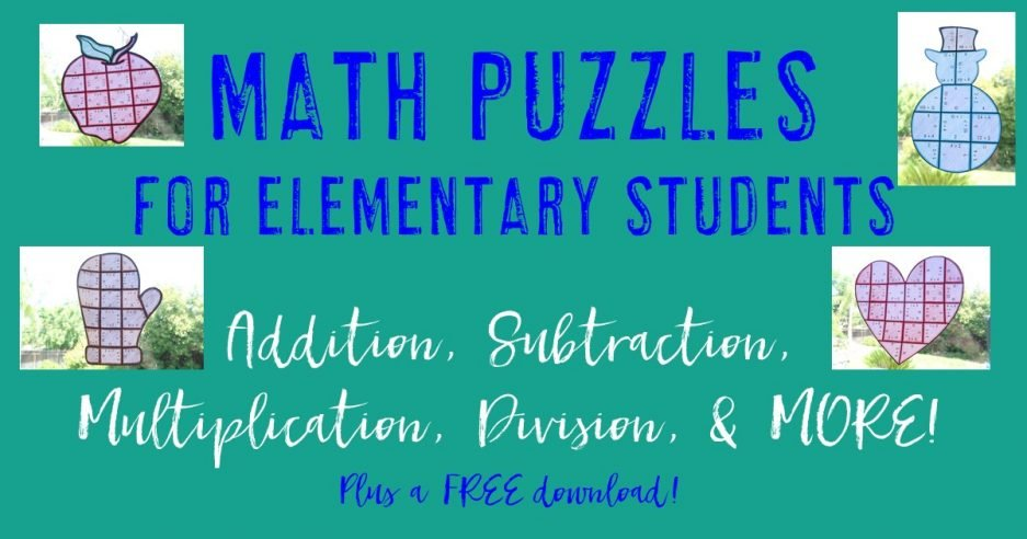 If you're on the lookout for great math puzzles, THIS is it! Your 1st, 2nd, 3rd, 4th, and 5th grade classroom or home school students will love being able to do math puzzles throughout the school year. With 15 different seasons covered, your students will enjoy math enrichment, centers, stations, partner work, independent work, and more. Valentine's Day, Halloween, fall pumpkins, St. Patrick's Day, spring flowers, and more are all included. {first, second, third, fourth, fifth graders}
